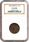 Image of 1843 1/2c Original NGC Proof 62 BN