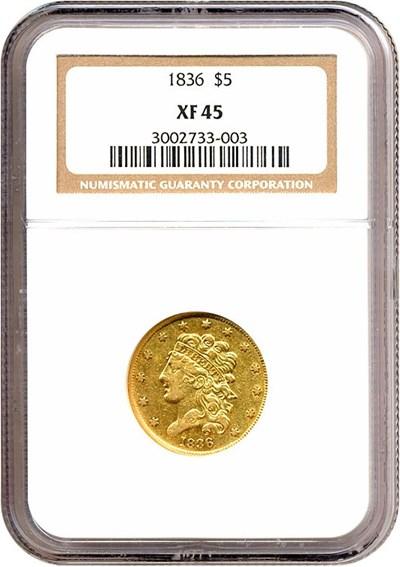 Image of 1836 $5  NGC XF45