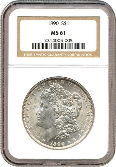Image of 1890 $1  NGC MS61