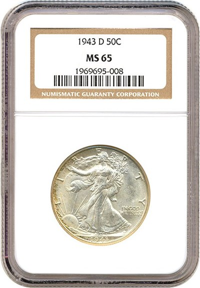 Image of 1943-D 50c  NGC MS65