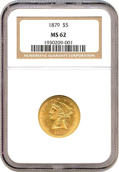 Image of 1879 $5  NGC MS62