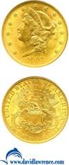 Image of 1907 $20 Liberty NGC MS63