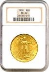 Image of 1909 $20  NGC MS62