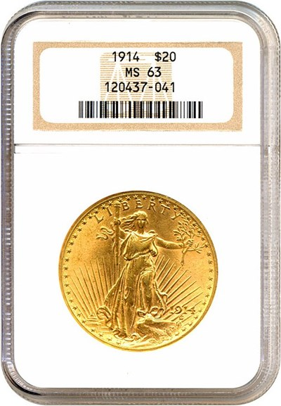 Image of 1914 $20  NGC MS63