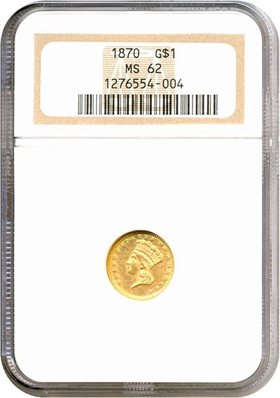Image of 1870 G$1  NGC MS62