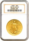 Image of 1908 $20 Motto NGC MS62
