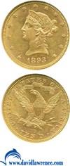 Image of 1893 $10  NGC MS61