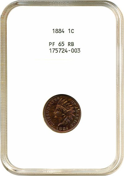 Image of 1884 1c  NGC Proof 65 RB