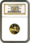 Image of 1995-W $5 Olympic Torch NGC Proof 67 UCameo