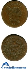 Image of 1795 1/2c Plain Edge NGC VF35 BN