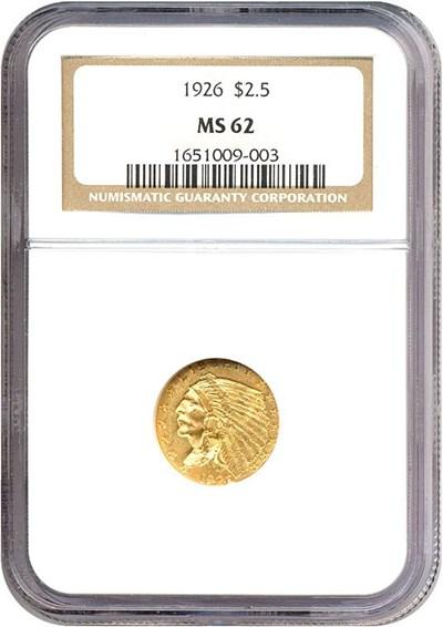 Image of 1926 $2 1/2  NGC MS62