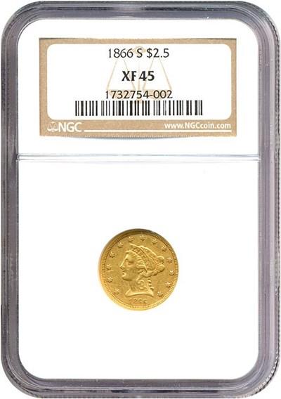 Image of 1866-S $2 1/2  NGC XF45