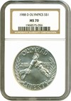 Image of 1988-D $1 Olympic NGC MS70