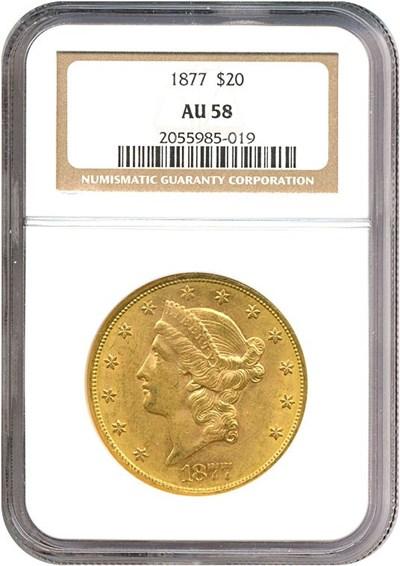 Image of 1877 $20  NGC AU58