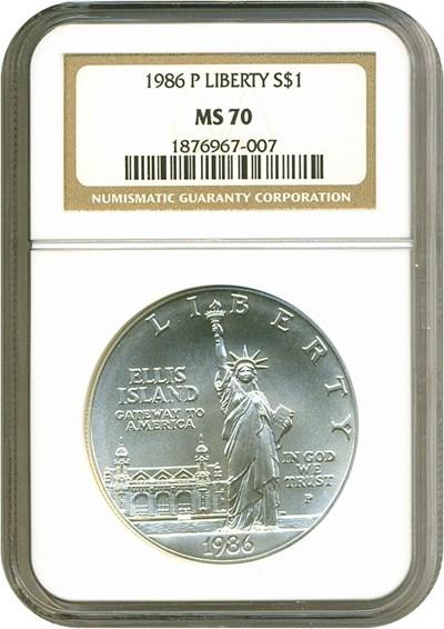 Image of 1986-P $1 Statue Liberty NGC MS70