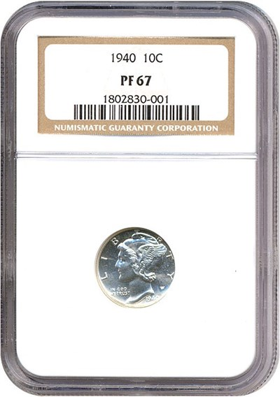 Image of 1940 10c  NGC Proof 67