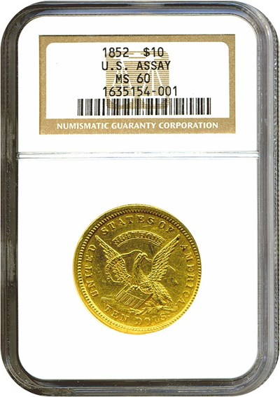 Image of Assay $10 1852 NGC MS60