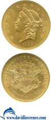 Image of 1858 $20  NGC AU58