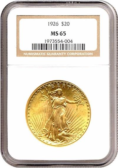 Image of 1926 $20  NGC MS65