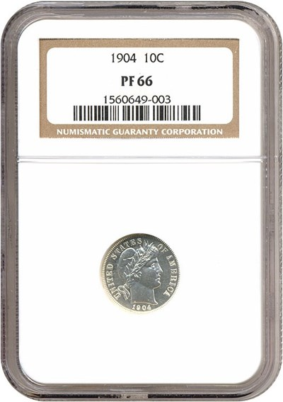 Image of 1904 10c  NGC Proof 66