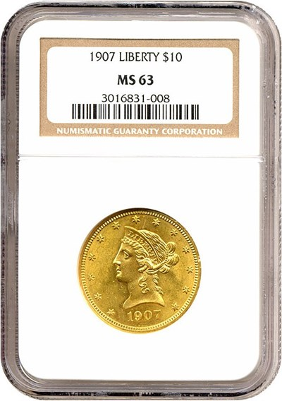 Image of 1907 $10 Liberty NGC MS63