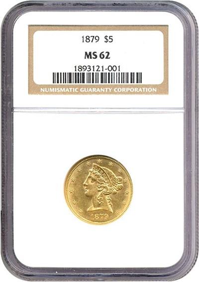 Image of 1879 $5  NGC MS62