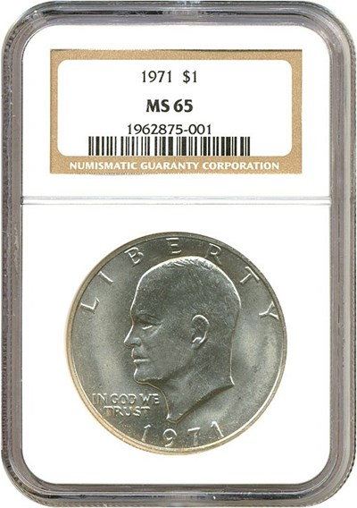 Image of 1971 $1  NGC MS65
