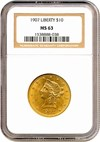 Image of 1907 $10 Liberty NGC MS63