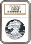 Image of 2001-W $1 Silver Eagle NGC Proof 69 UCameo