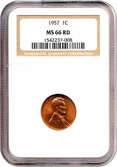 Image of 1957 1c  NGC MS66 RD