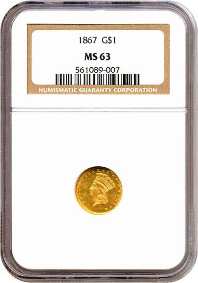 Image of 1867 G$1  NGC MS63