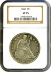Image of 1842 $1  NGC VF35