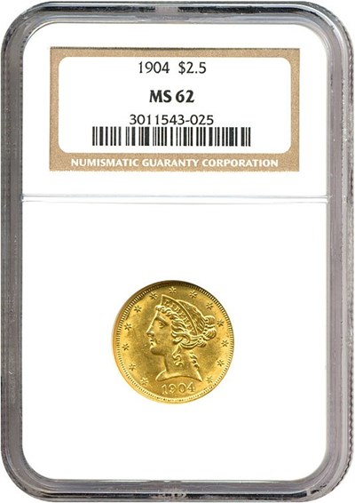 Image of 1904 $2 1/2  NGC MS62