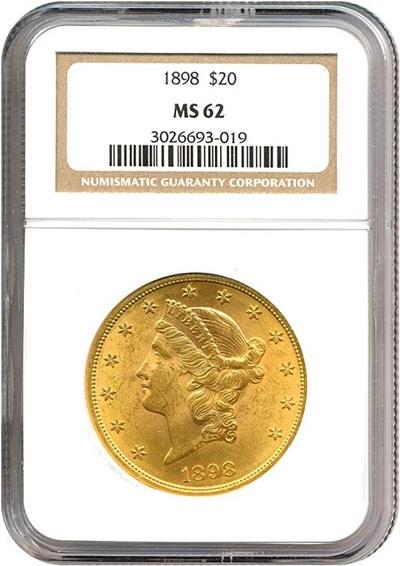Image of 1898 $20  NGC MS62