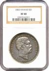 Image of 1883 $1 Hawaii NGC XF40