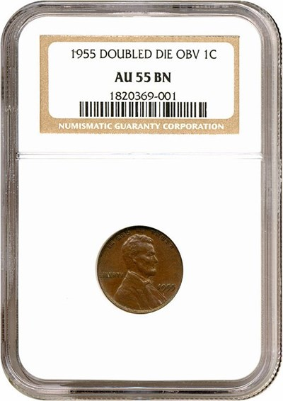 Image of 1955/1955 1c Doubled Die NGC AU55 BN