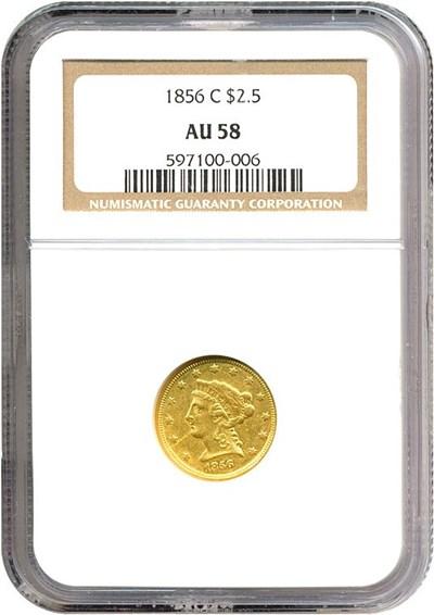 Image of 1856-C $2 1/2  NGC AU58