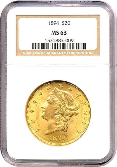 Image of 1894 $20  NGC MS63