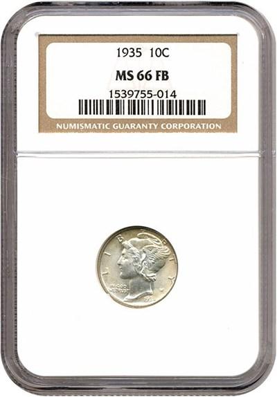 Image of 1935 10c  NGC MS66 FB