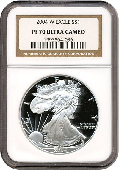 Image of 2004-W $1 Silver Eagle NGC Proof 70 UCameo
