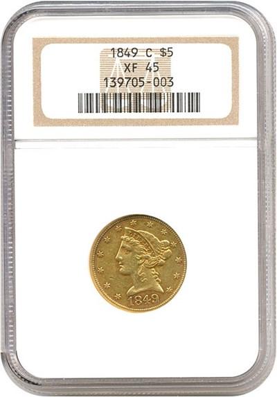 Image of 1849-C $5  NGC XF45