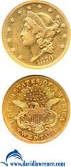 Image of 1870-S $20  NGC XF45