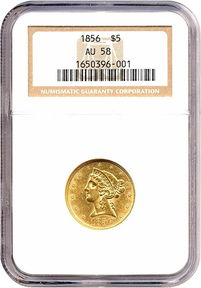 Image of 1856 $5  NGC AU58