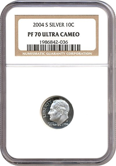 Image of 2004-S 10c Silver NGC Proof 70 UCameo