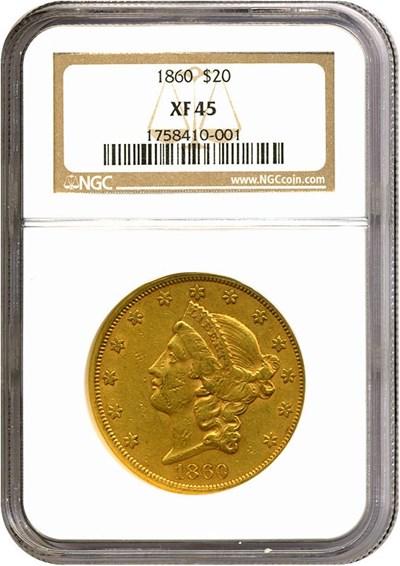 Image of 1860 $20  NGC XF45
