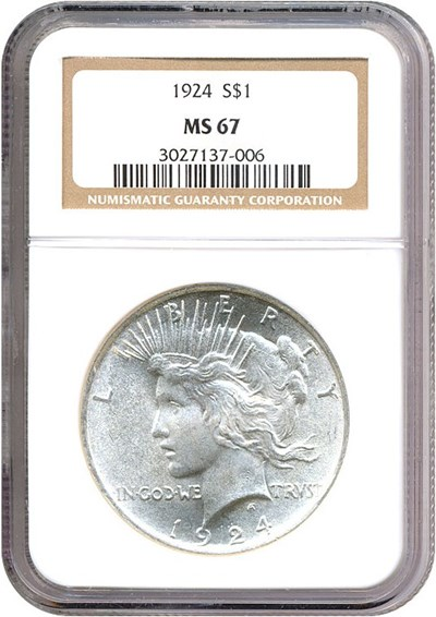 Image of 1924 $1  NGC MS67