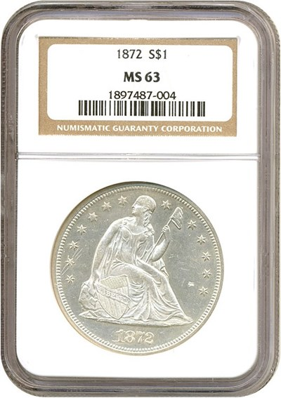 Image of 1872 $1  NGC MS63