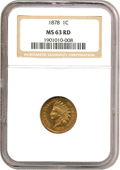 Image of 1878 1c  NGC MS63 RD