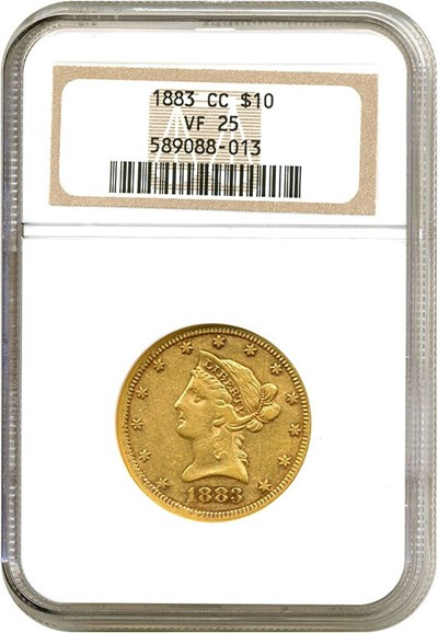 Image of 1883-CC $10  NGC VF25
