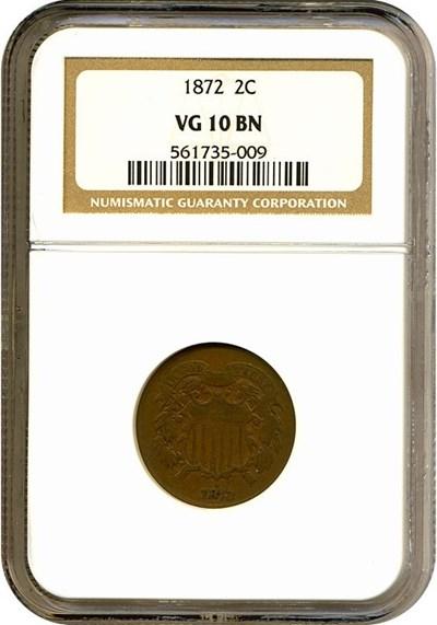 Image of 1872 2c  NGC VG10 BN